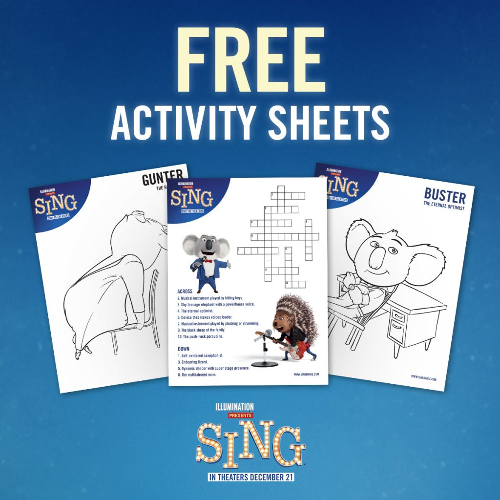 Sing Activity Pages