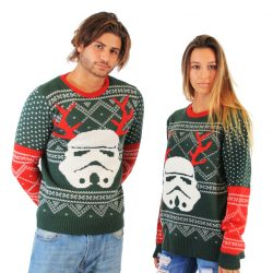 Ugly Christmas Sweater Star Wars Stormtrooper With Reindeer Antlers