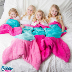 FinFun Mermaid Blanket for Adults & Kids
