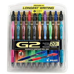 Pilot G2 Retractable Premium Gel Ink Roller Ball Pens