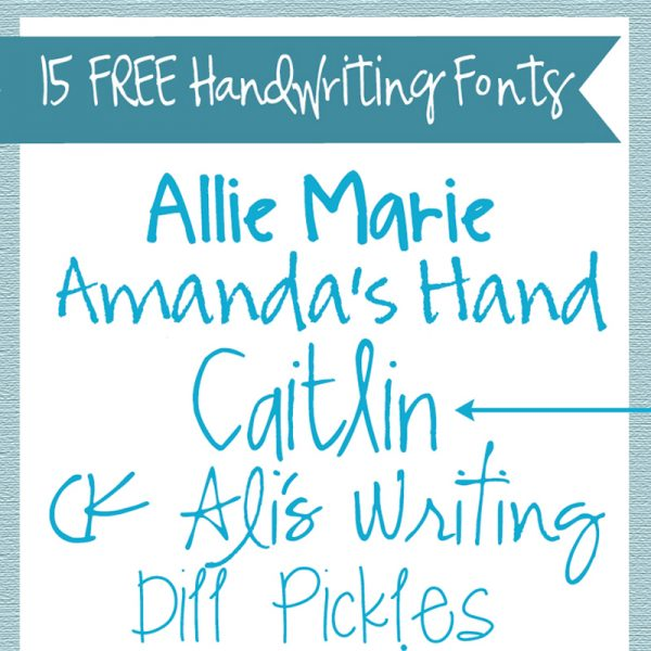 15 Handwriting Fonts