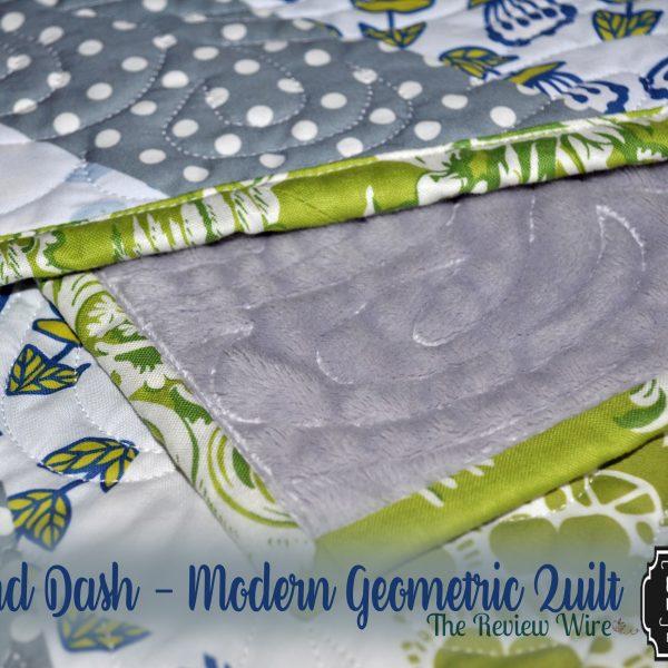 Diamond Dash - Modern Geometric Quilt_Green and Gray