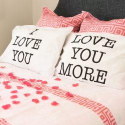 I Love You & Love You More Pillowcase Pair