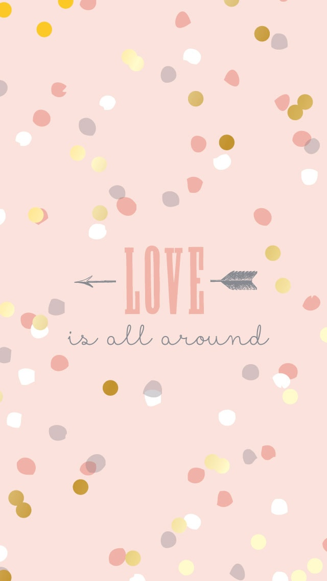 Love Is All Around Wallpaper : 10 Valentine s Day iPhone Wallpapers The Review Wire