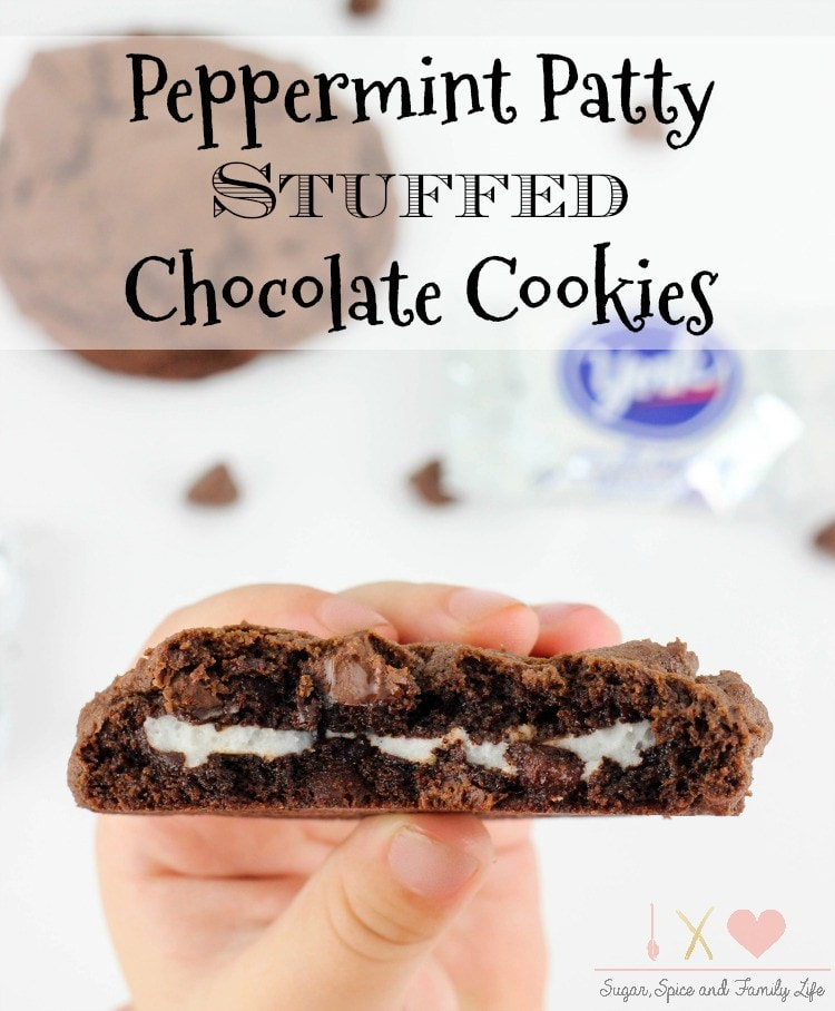 Peppermint Patty Stuffed Chocolate Cookie