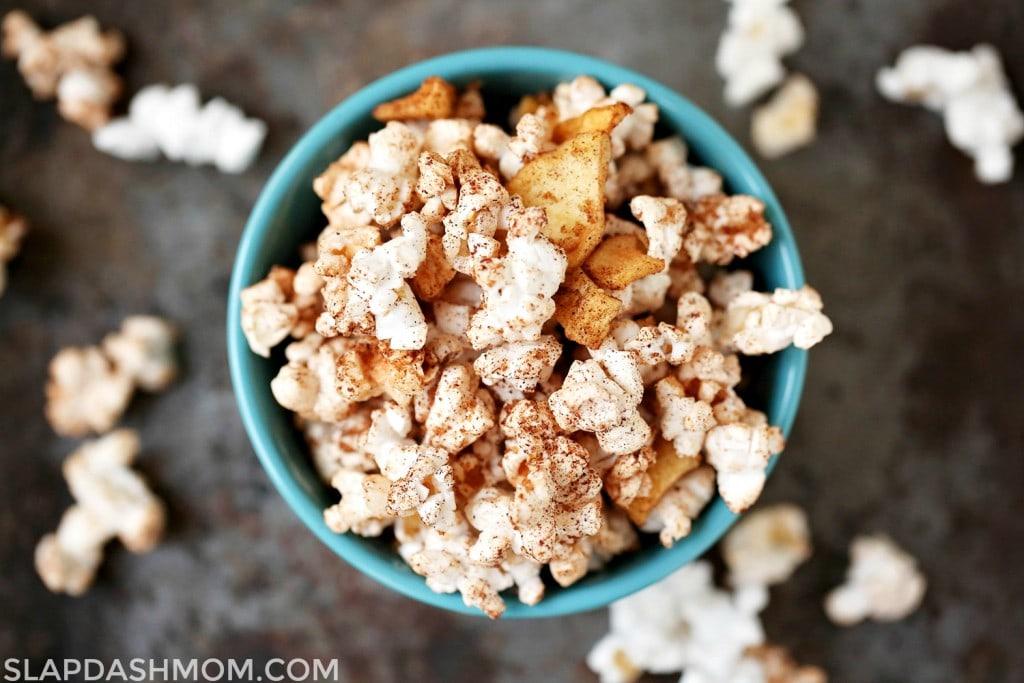 Apple Cinnamon Popcorn from Slapdash Mom