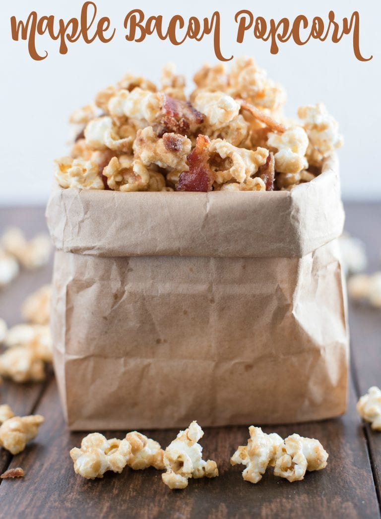 Maple Bacon Popcorn from Almost Supermom