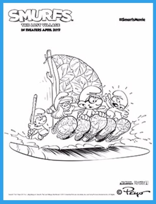 SMURFS-Coloring-Page---River