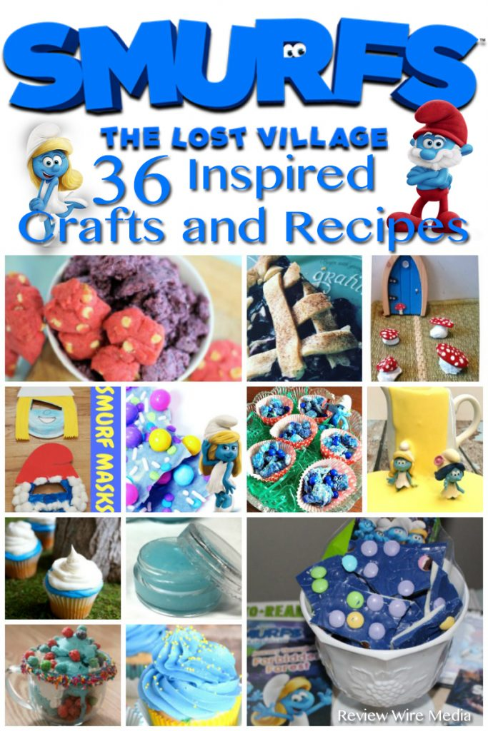 SMURFS Inspired Recipes and Crafts