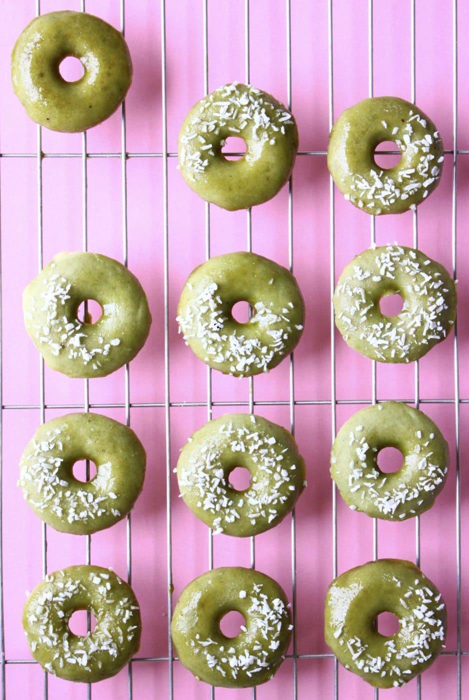 Rhian's Recipes: Vegan Matcha Baked Donuts (GF)