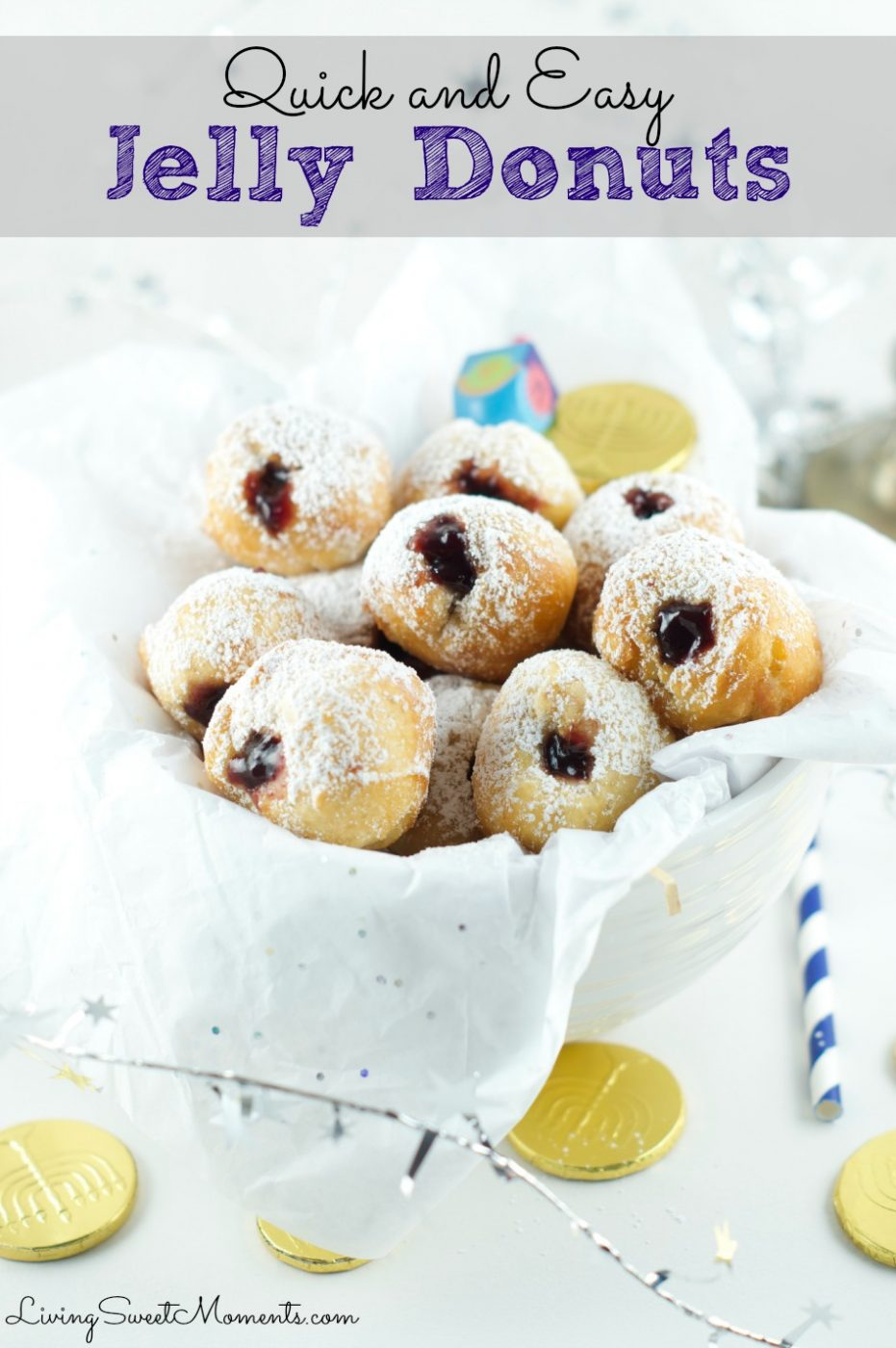Living Sweet Moments: Quick Jelly Donut