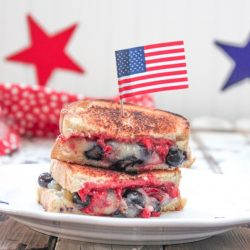 Strawberry & Blueberry Grilled Cheese