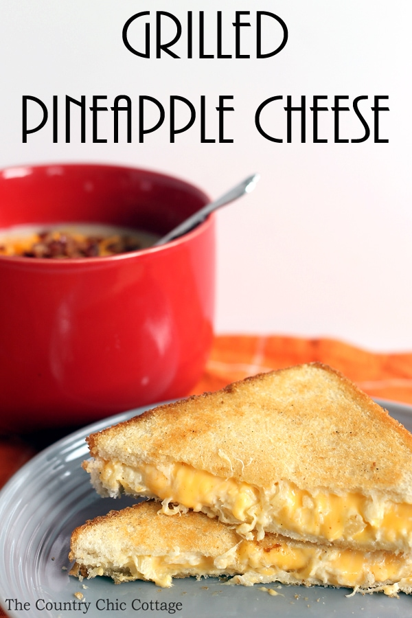 Grilled Pineapple Cheese Sandwich
