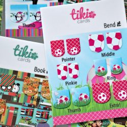 tiki tradable nail art cards