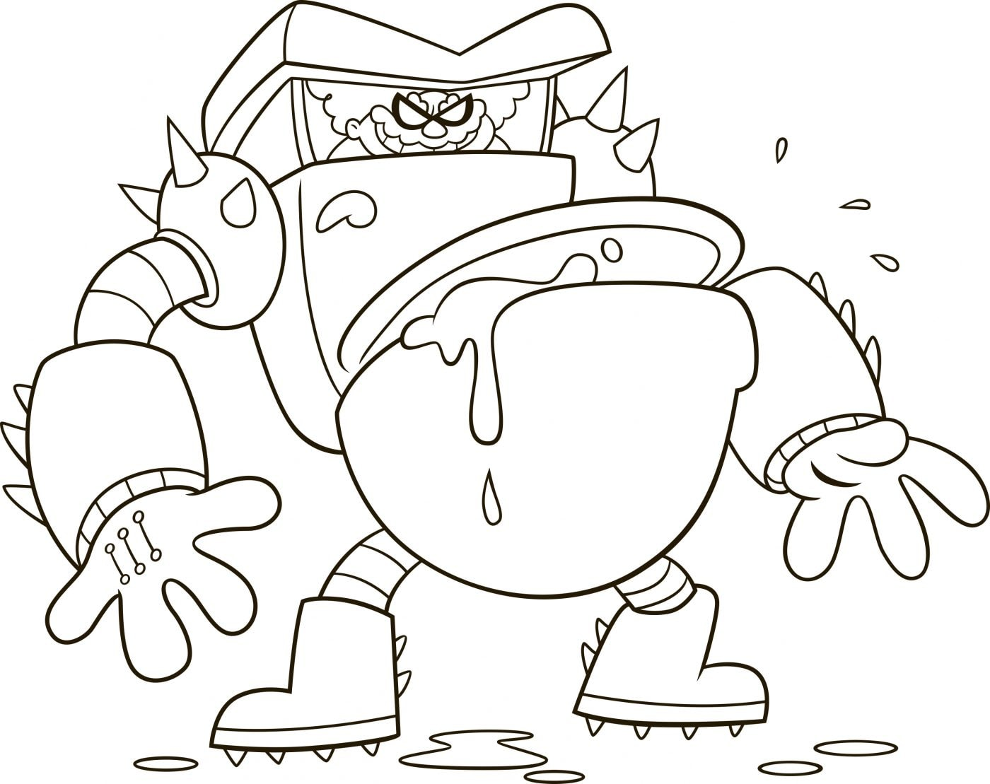 Captain Underpants Turbo Toilet 2000 Coloring Page