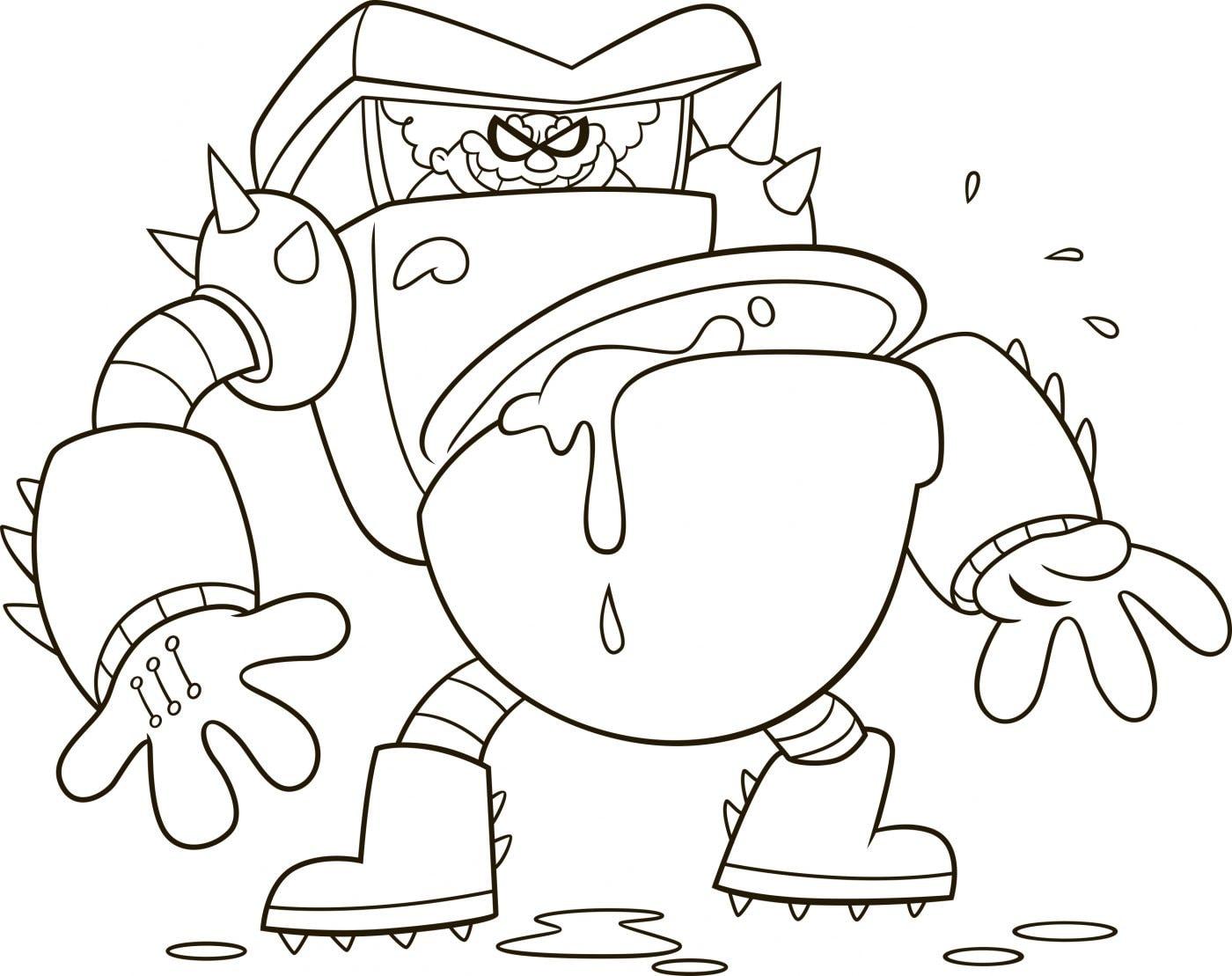 Captain Underpants Turbo Toilet 2000 Coloring Page