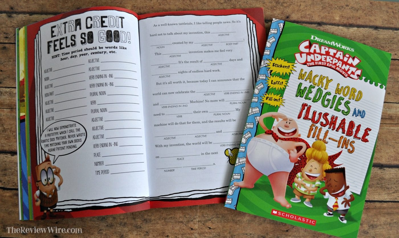Captain Underpants Wacky Word Wedgies and Flushable Fill-ins