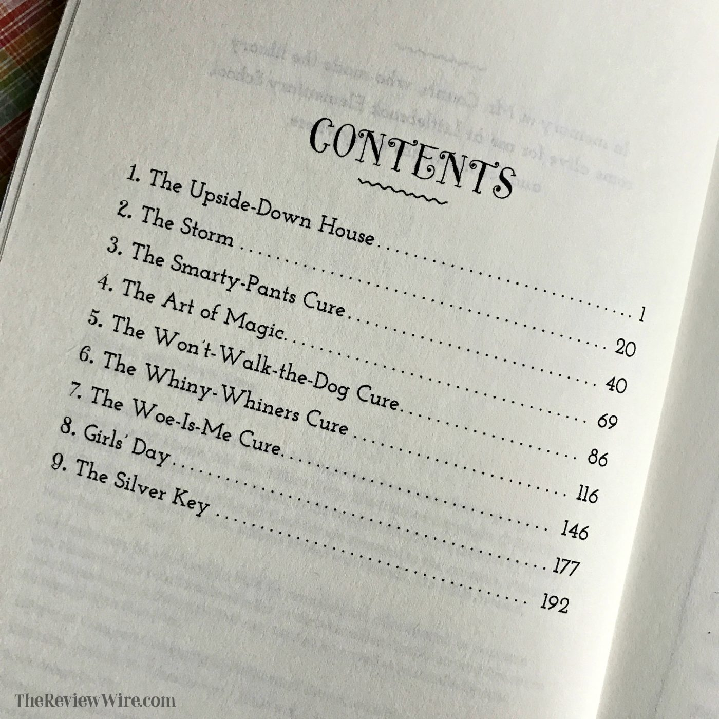 Missy Piggle-Wiggle and the Won't Walk the Dog Cure Contents Page