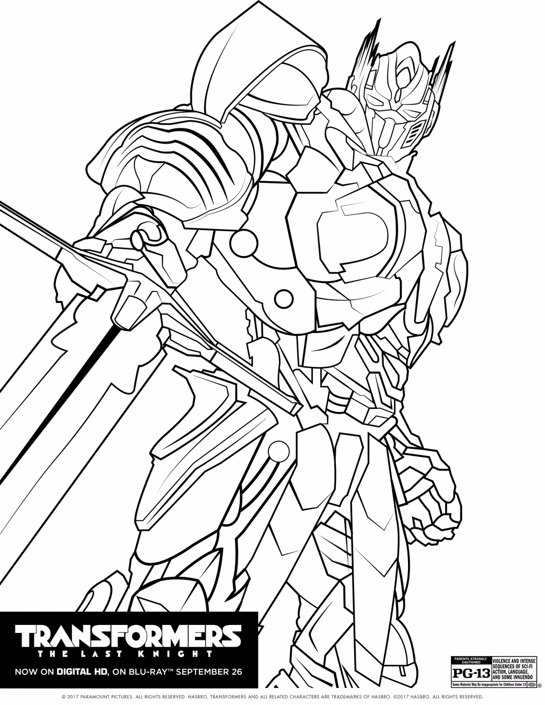 transformers the last knight coloring sheet transformers the last knight coloring sheet - Knight Coloring Pages