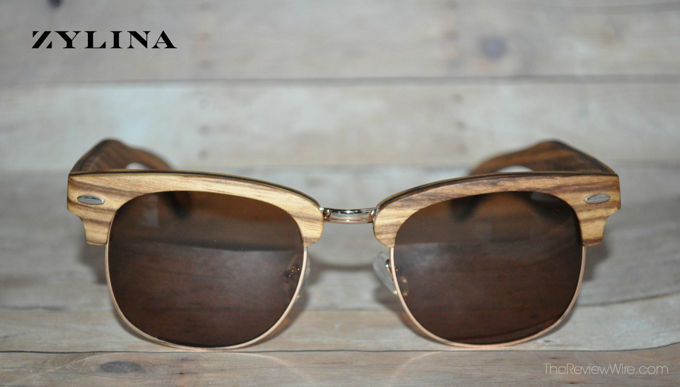 Zylina Sunglasses in Zebra Wood and Brown Lenses