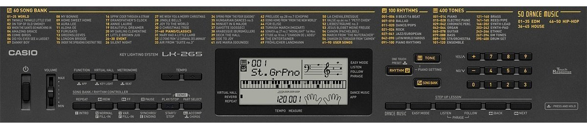 Casio LK-265Keyboard Configuration