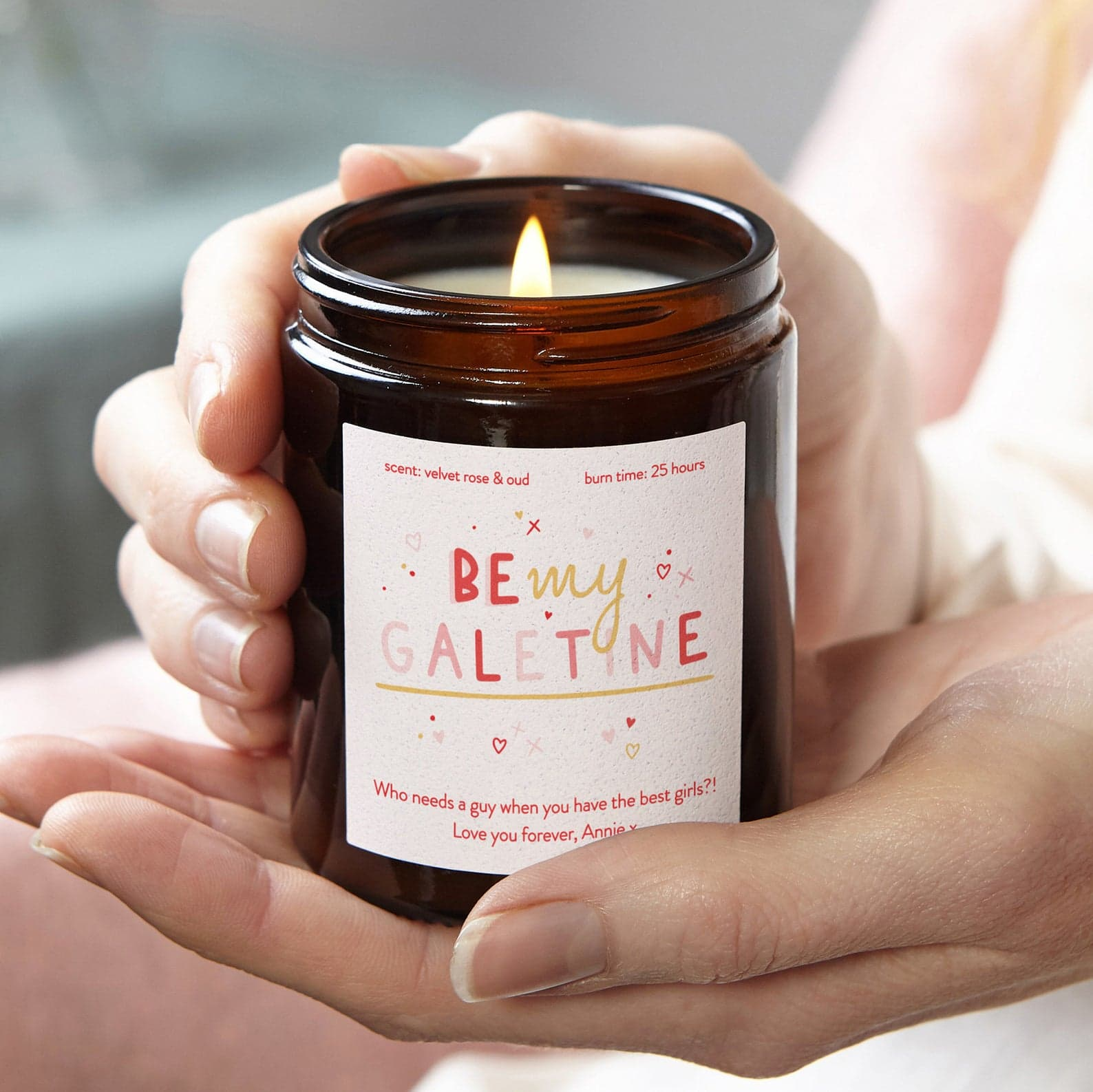 Galentine's Day Candle