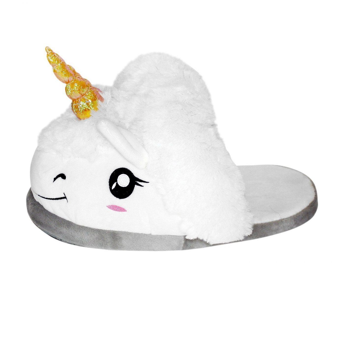Plush Unicorn Slippers