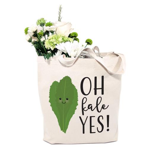 Cotton Canvas Oh Kale Yes! Tote