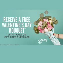 Free Valentine's Day Bouquet with Fandango Ticket