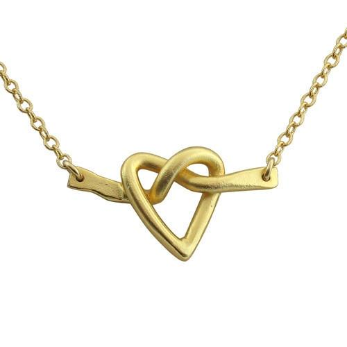 Isabelle Grace Twisted Love Necklace Gold Plated