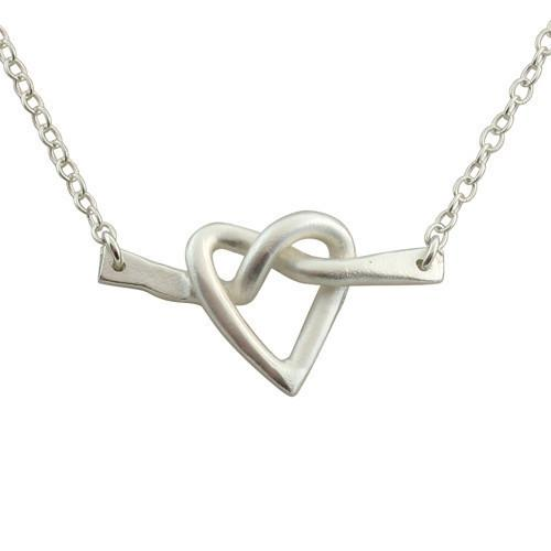 Isabelle Grace Twisted Love Necklace Silver