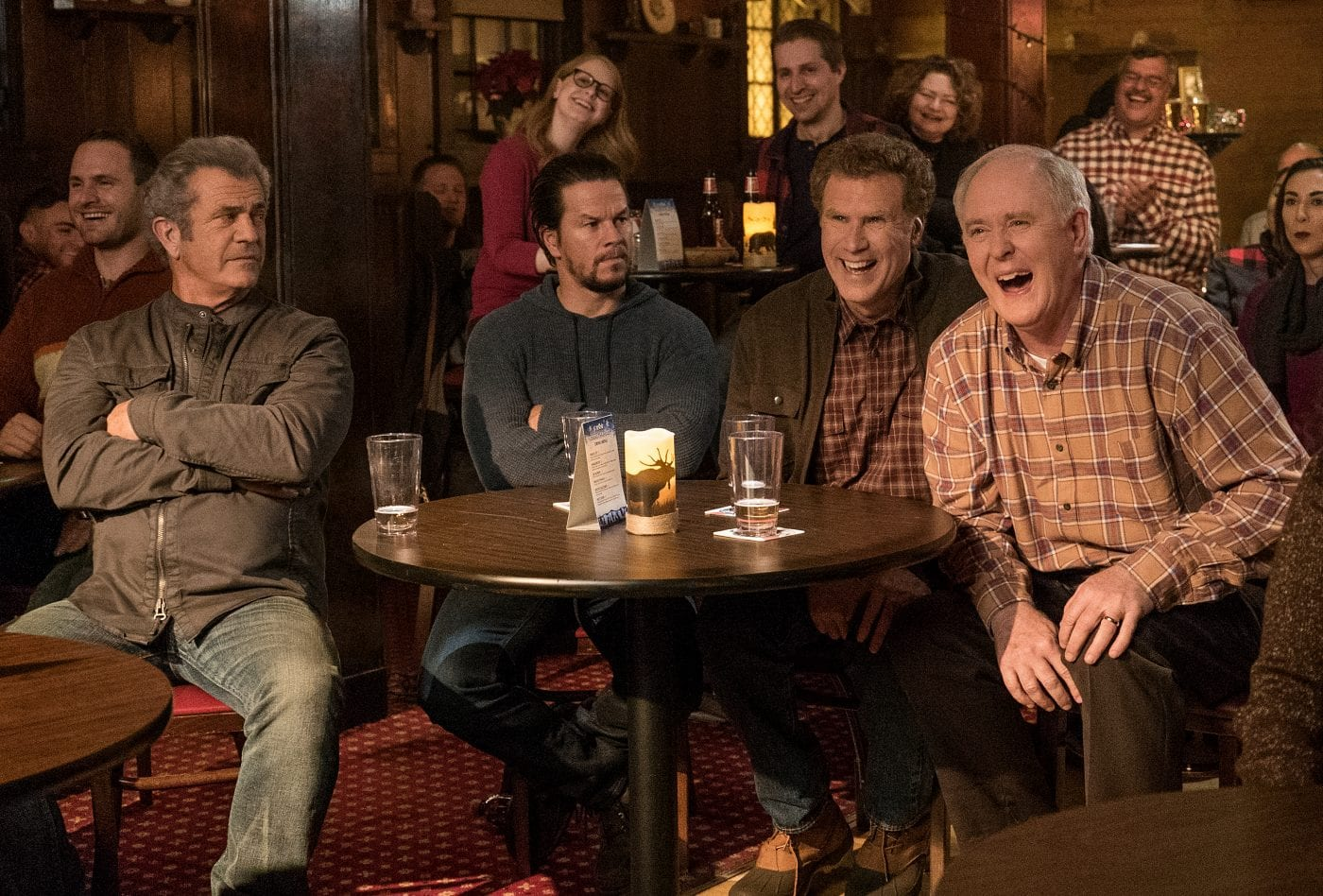Mel Gibson plays Kurt, Mark Wahlberg plays Dusty, Will Ferrell plays Brad and John Lithgow plays Don in Daddy's Home 2