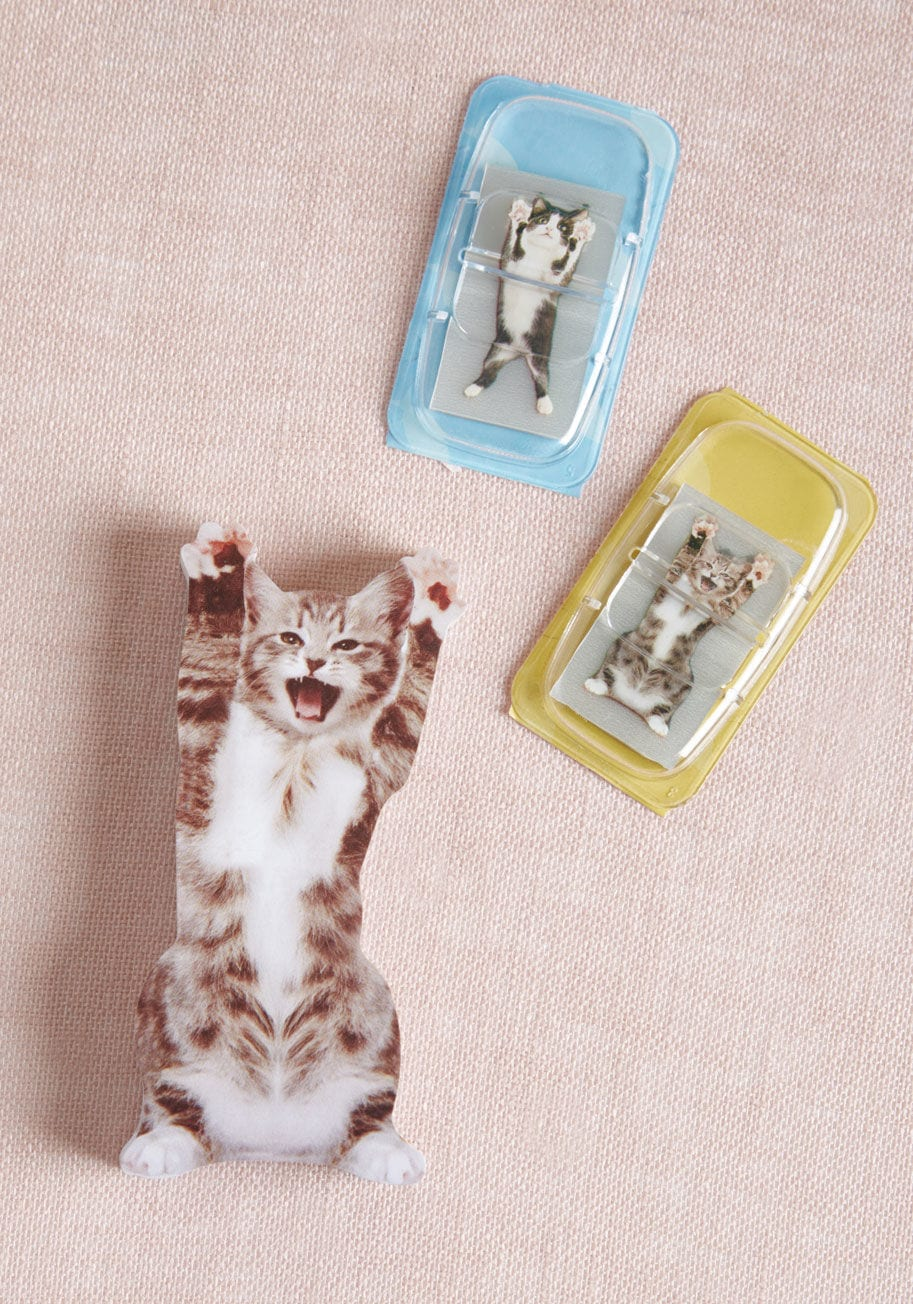 Paws Right There Sticky Note Set in Cats