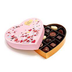 Valentine's Day Paper Heart Chocolate Gift Box