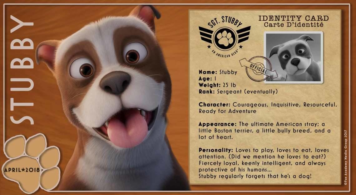 Sgt. Stubby An American Hero Stubby Bio Card