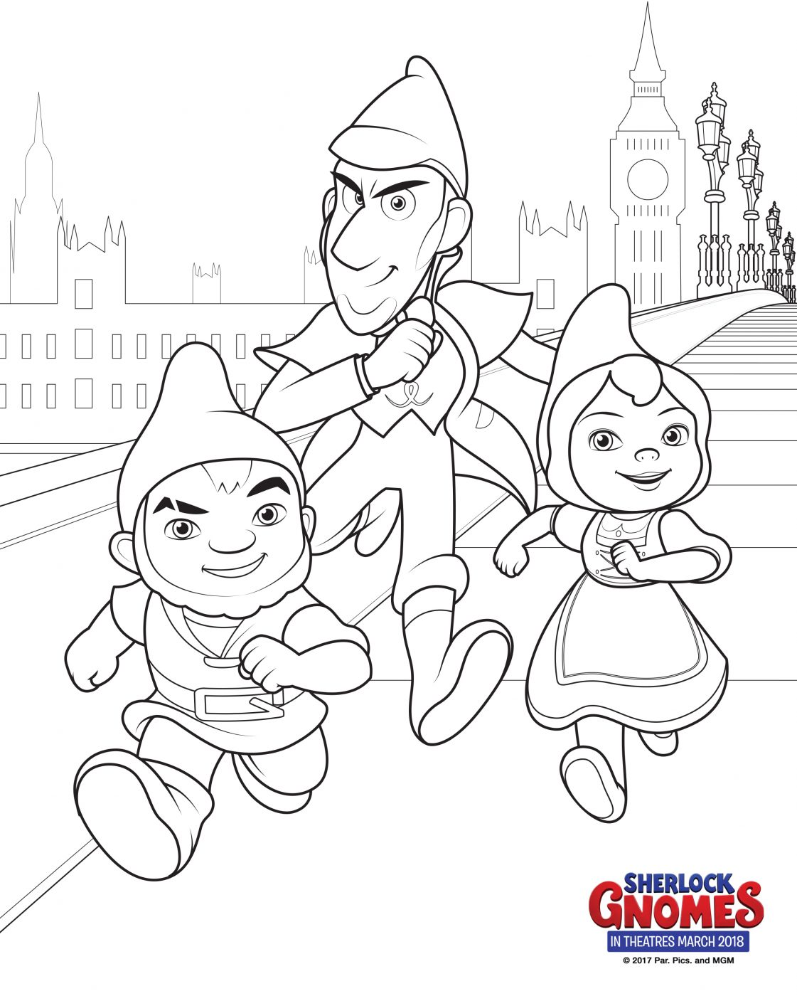 Sherlock Gnomes Coloring Pages + Books | The Review Wire