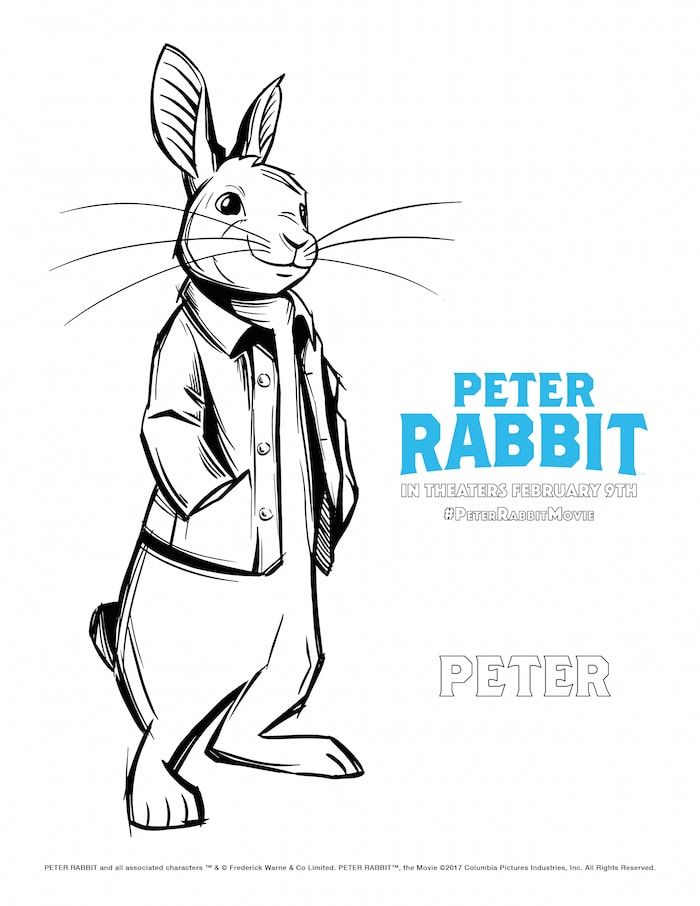 Download and Color this Peter Rabbit Coloring Page