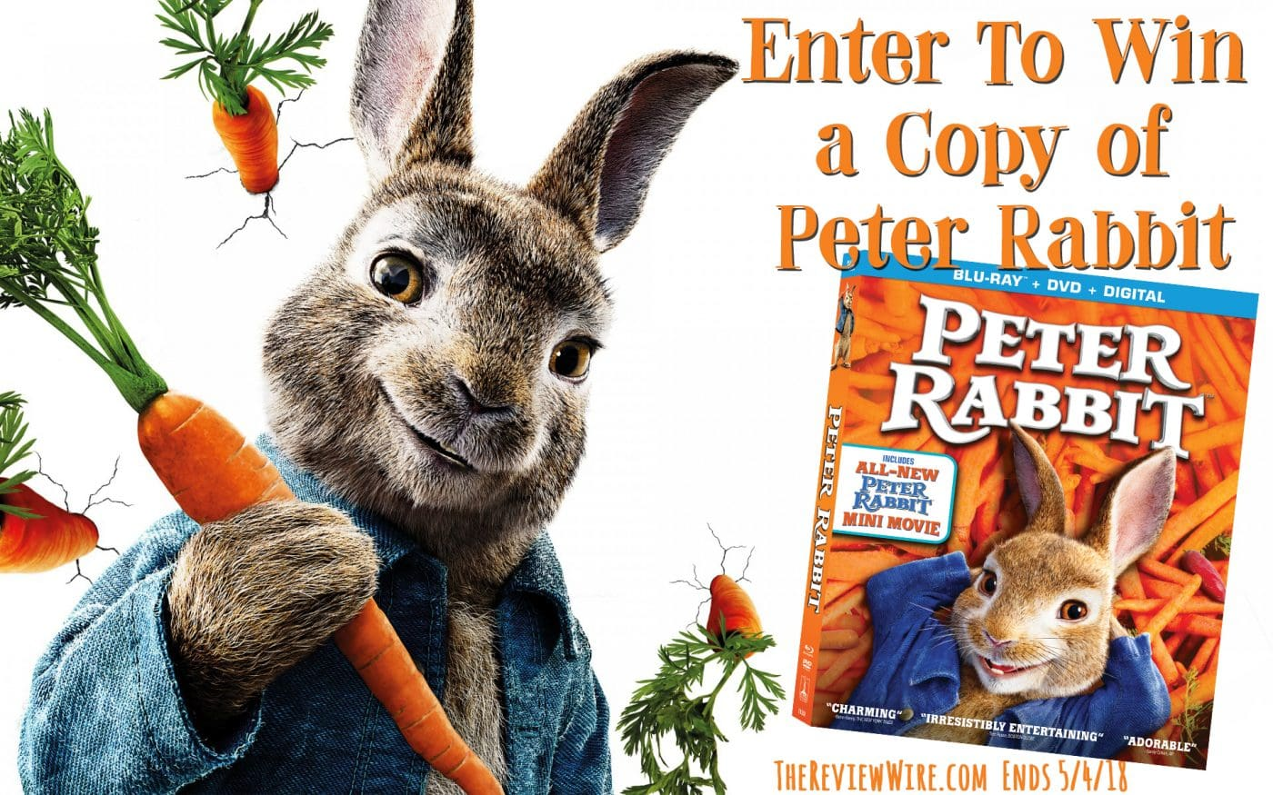 Enter to win a Blu-ray copy of the #PeterRabbitMovie! #Giveaway ends 5/4