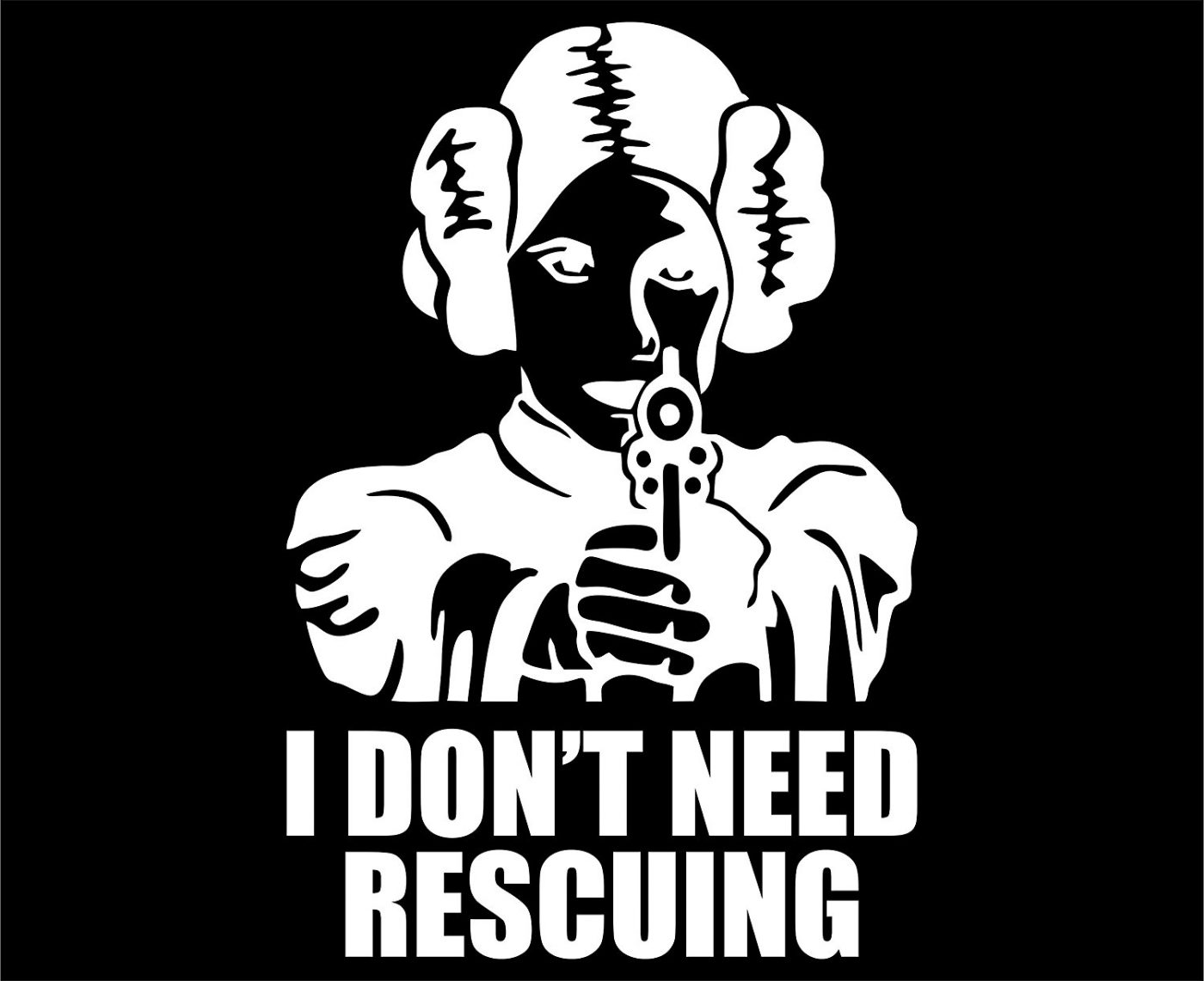 I Don't Need Rescuing - Vinyl Die Cut Decal / Bumper Sticker