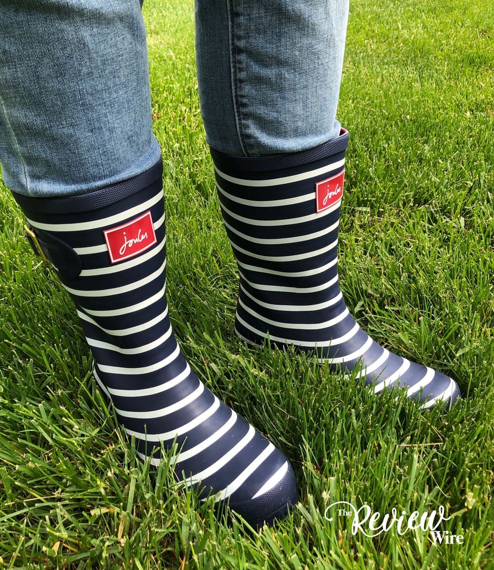 Joules Navy Stripe Wellies