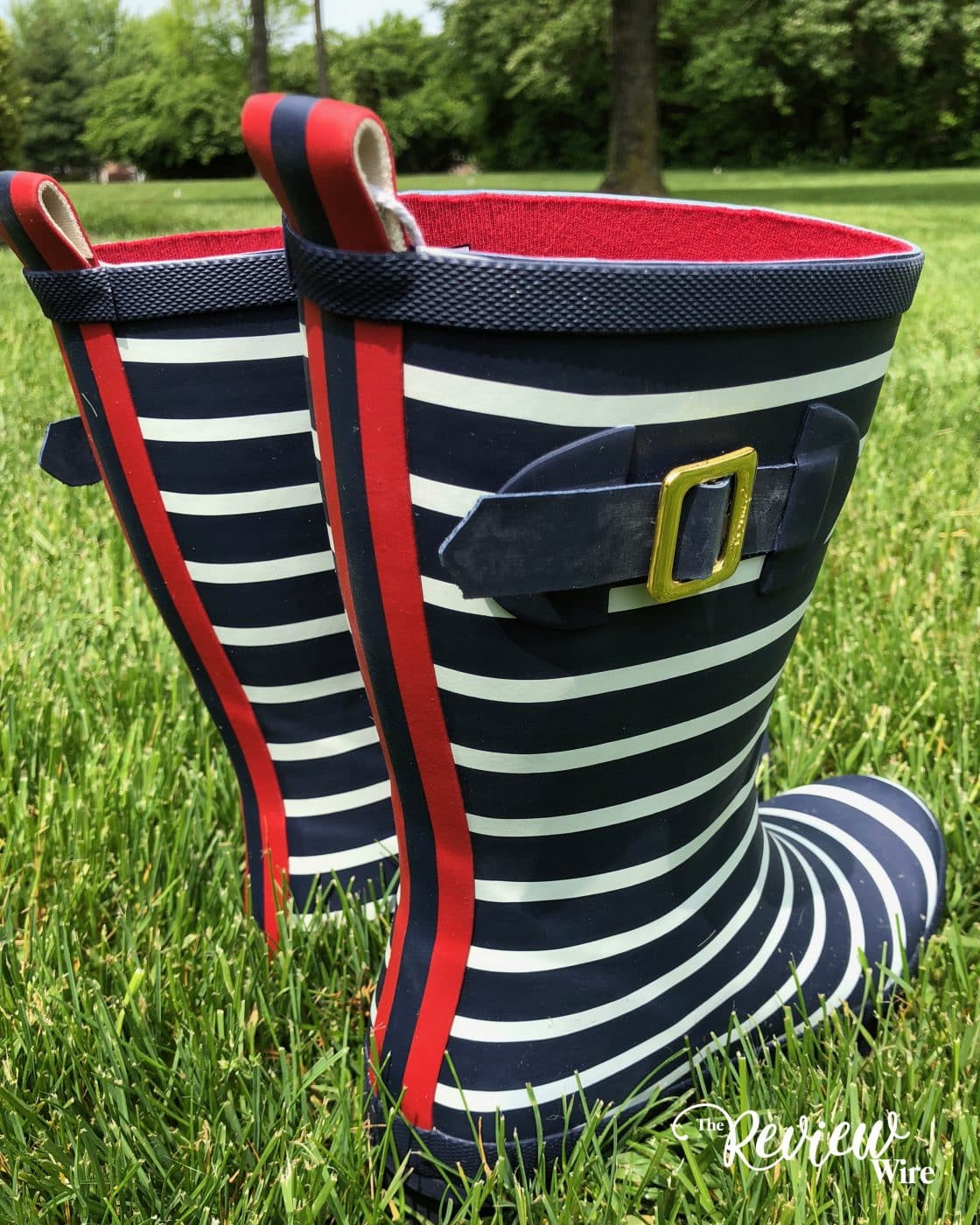 Joules Wellies Red Navy Stripe