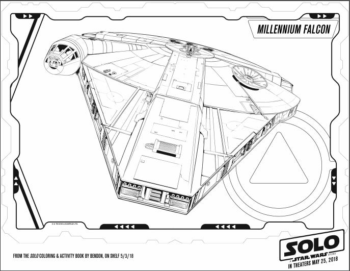 Millennium-Falcon Coloring Page