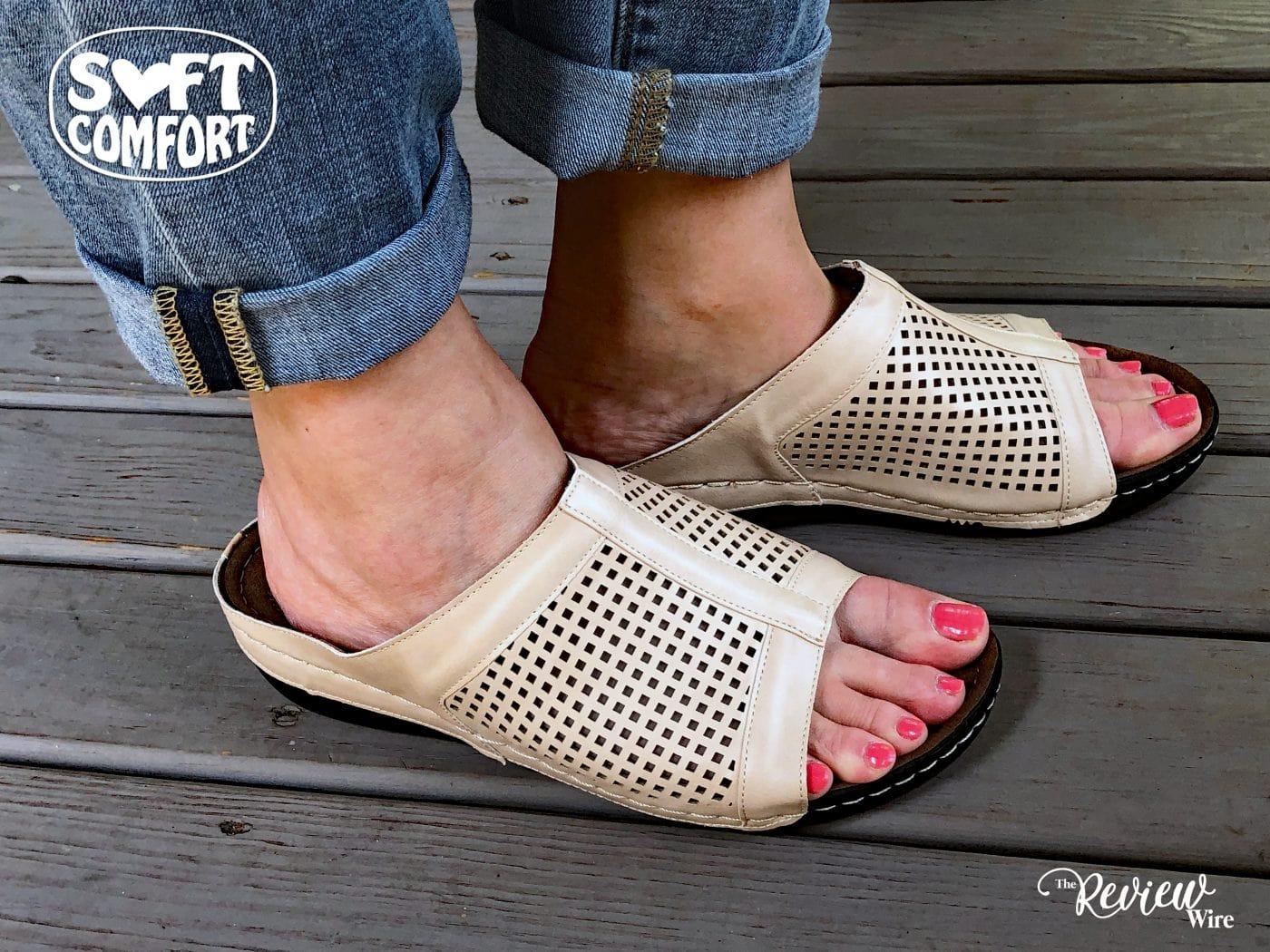 Soft Comfort Skylight Sandal in Cream