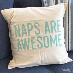 Naps are Awesome Organic Pillow