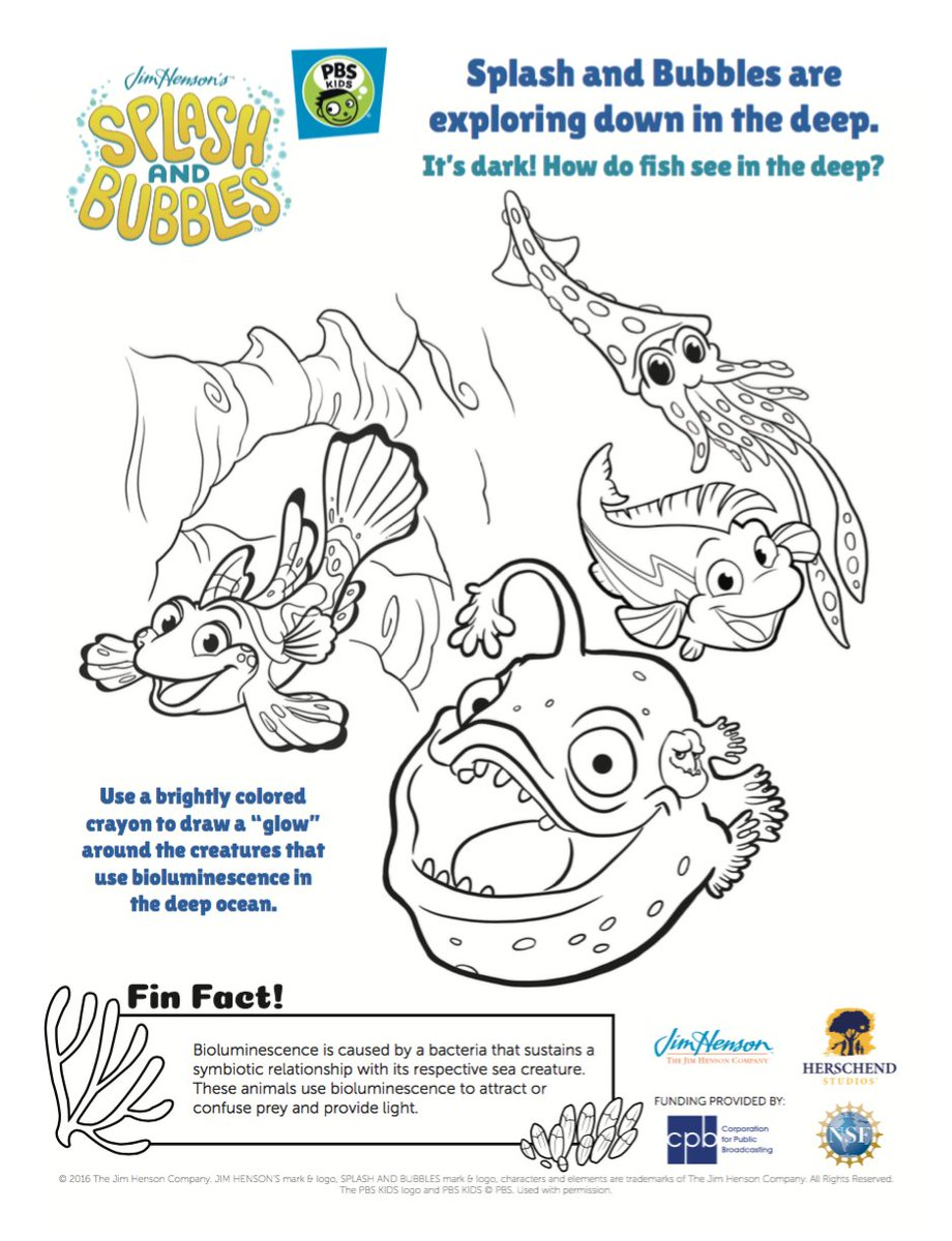Splash and Bubbles Coloring Page