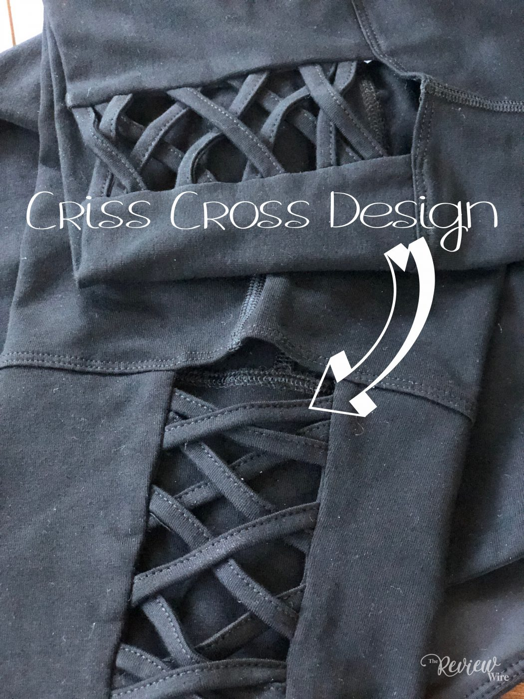 Criss Cross Design in the Ruby Ribbon Capri Leggings