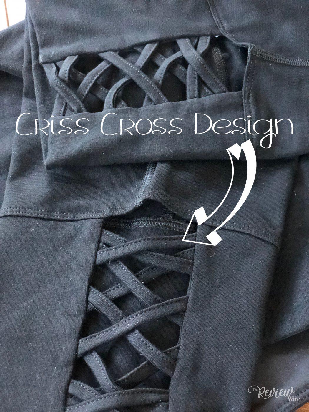 Criss Cross Design in the Ruby Ribbon Capri Leggings