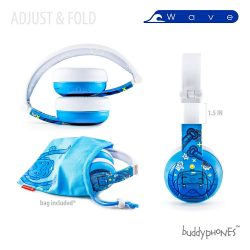BuddyPhones WAVE Wireless Bluetooth Headphones for Kids
