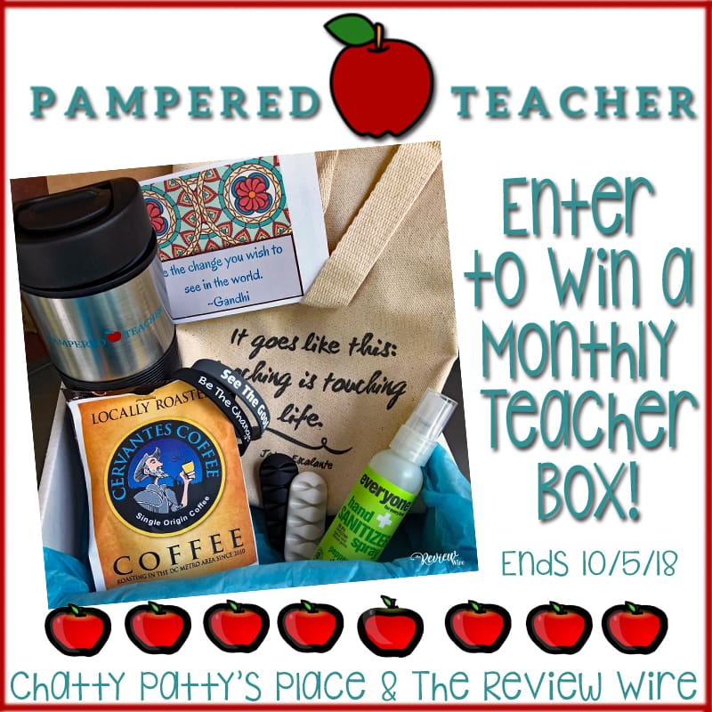The Review Wire Pampered Teacher Giveaway. Ends 10/5/18