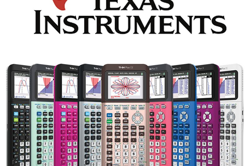 Texas Instruments TI-84 Plus CE Graphing Calculator Colors